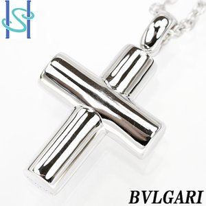 【SH54600】ブルガリ BVLGARI ラテンクロス ネックレス K18ホワイトゴールド【中古】|sht-ys