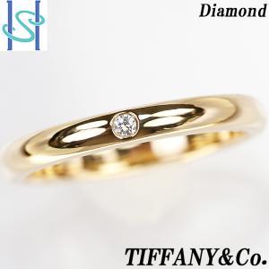 【SH54629】ティファニー ダイヤモンド リング K18イエローゴールド バンドリング 13号【中古】|sht-ys