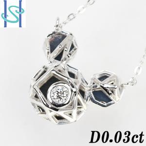 【SH54636】ダイヤモンド ネックレス 0.03ct K18ホワイトゴールド ミッキーマウス【中古】|sht-ys