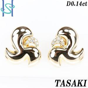 【SH54656】タサキ 田崎真珠 ダイヤモンド イヤリング 0.14ct 【中古】|sht-ys