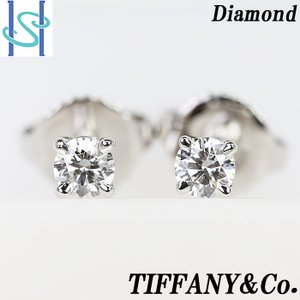 【SH55387】ティファニー ダイヤモンド ピアス プラチナ950【中古】|sht-ys