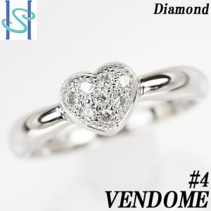 【SH55491】ヴァンドーム青山 ダイヤモンド ピンキーリング Pt900 ハート【中古】|sht-ys
