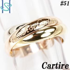 【SH55505】カルティエ トリニティ リング K18YG/PG/WG スリーカラーゴールド Cartier【中古】|sht-ys