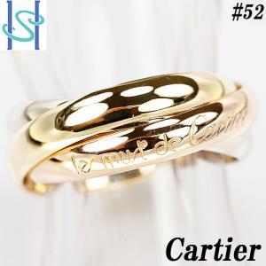 【SH55506】カルティエ トリニティ リング K18YG/PG/WG スリーカラーゴールド Cartier #52【中古】|sht-ys