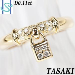 【SH55507】タサキ 田崎真珠 ダイヤモンド リング 0.11ct K18イエローゴールド TASAKI【中古】|sht-ys