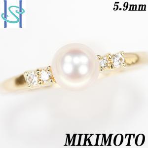 【SH55633】ミキモト アコヤパール リング 5.9mm K18イエローゴールド【中古】|sht-ys