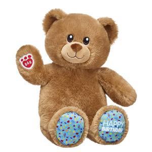 ビルドアベア Birthday Bear ハッピー バースデー テディベア くま クマ ブラウン 茶色 ぬいぐるみ 誕生日 プレゼント Build A Bear Work Shop|shu-fu-ka