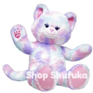 ビルドアベア ネコ ぬいぐるみ 40cm パステル 猫 キティ 日本未入荷 アメリカ限定 Build A Bear Work Shop Pastel Swirl Kitty|shu-fu-ka