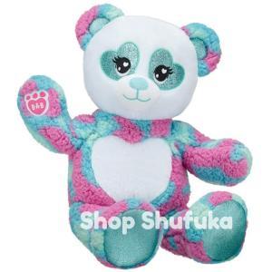 ビルドアベア パンダ ふわふわ ぬいぐるみ 40cm お腹ハート ギフト プレゼント ぱんだ PANDA アメリカ限定 白 水色 ピンク Sparkle Panda |shu-fu-ka
