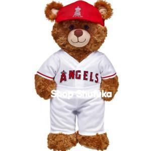 ビルドアベア ぬいぐるみ テディベア ダッフィー クマ メジャーリーグ ロサンゼルス エンゼルス 野球 ユニフォーム Los Angeles Angels Uniform 3pc|shu-fu-ka