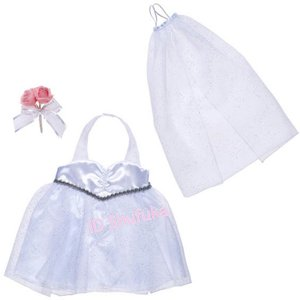 ビルドアベア ウエディング ドレス コスチューム ブーケ ベール 3点セット ぬいぐるみ テディベア クマ くま 衣装 仮装 結婚式 |shu-fu-ka