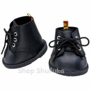 ビルドアベア 靴 10cmコンバット ブーツぬいぐるみ テディベア クマ ダッフィー シェリーメイ シューズ Build A Bear Black Combat Boots|shu-fu-ka
