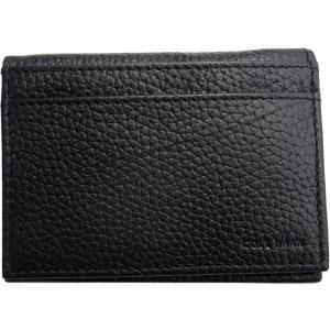 コールハーン 本革製 レザー カードケース 黒 ブラック COLE HAAN 003|shufflestore