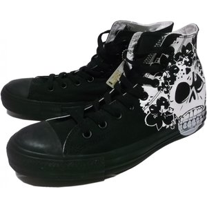 コンバース オールスター スカルズハイ 黒 ブラック converse ALLSTAR 015|shufflestore