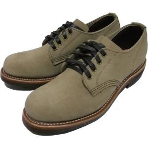 """アメリカンブーツの名品""""Chippewa Boots""""の本革製スエードレザーワークブーツ(GENER..."""