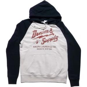 デニム&サプライ スウェットパーカ ホワイト ラルフローレン DENIM&SUPPLY 008 shufflestore