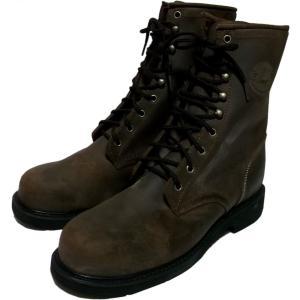 ジャスティン 本革製 レザー ワークブーツ アメリカ製 茶 ブラウン Justin Boots 001|shufflestore