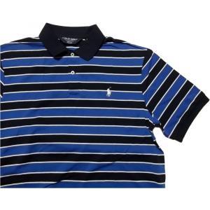 ポロゴルフ ラルフローレン ワンポイント 半袖 ピマコットン ポロシャツ ブルー POLO GOLF 018|shufflestore