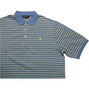 ポロゴルフ ラルフローレン ワンポイント 半袖 ピマコットン ポロシャツ ブルー POLO GOLF 021|shufflestore