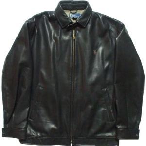 ラルフローレン 本革製 レザージャケット 黒 ブラック Polo Ralph Lauren 007|shufflestore