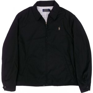 ラルフローレン ワンポイント スイングトップ ジャケット ポリエステル 黒 ブラック Polo RalphLauren 128|shufflestore