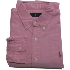 ラルフローレン 長袖 ワンポイント ボタンダウンシャツ レッド Polo Ralph Lauren 039|shufflestore