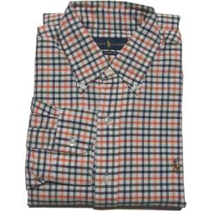 ラルフローレン 長袖 ワンポイント ボタンダウンシャツ チェック オレンジ Polo Ralph Lauren 046|shufflestore
