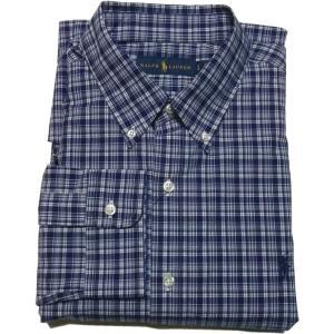 ラルフローレン 長袖 ワンポイント ボタンダウンシャツ ブルー Polo Ralph Lauren 047|shufflestore