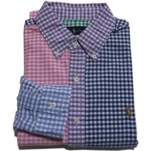ラルフローレン 長袖 ワンポイント ボタンダウンシャツ クレージー ギンガムチェック Polo Ralph Lauren 053|shufflestore