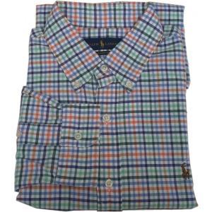 ラルフローレン 長袖 ワンポイント ボタンダウンシャツ チェック グリーン Polo Ralph Lauren 061|shufflestore