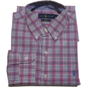 ラルフローレン 長袖 ワンポイント ボタンダウンシャツ チェック ピンク Polo Ralph Lauren 062|shufflestore