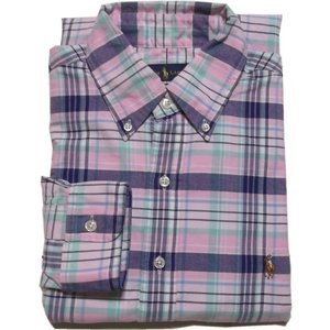ラルフローレン 長袖 ワンポイント ボタンダウンシャツ チェック ピンク Polo Ralph Lauren 1036|shufflestore