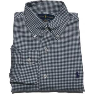ラルフローレン 長袖 ワンポイント ボタンダウンシャツ チェック グリーン Polo Ralph Lauren 1063|shufflestore