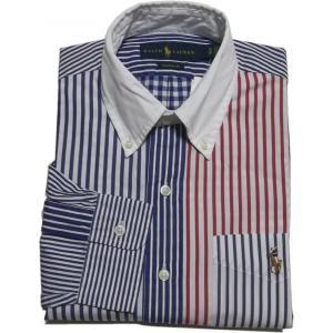 ラルフローレン 長袖 ワンポイント ボタンダウンシャツ クレージー Polo Ralph Lauren 1072|shufflestore