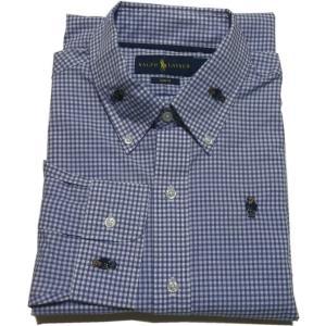 ラルフローレン 長袖 ポロベア ボタンダウンシャツ ブルー Polo Ralph Lauren 155|shufflestore