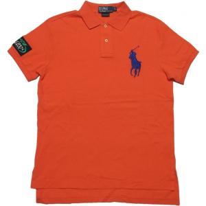 ラルフローレン 半袖 ビッグポニー 鹿の子 ポロシャツ オレ...