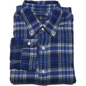 ラルフローレン 長袖 ワンポイント ボタンダウンシャツ ブルー Polo Ralph Lauren 948|shufflestore
