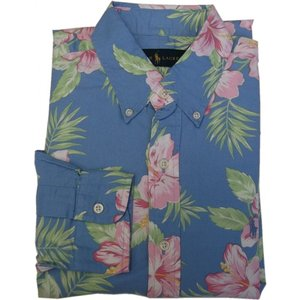 ラルフローレン 長袖 ワンポイント ボタンダウンシャツ 花柄 ブルー Polo Ralph Lauren 963|shufflestore
