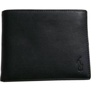 ラルフローレン 本革製 レザー パスケース 財布 Polo Ralph Lauren 黒 ブラック 223 shufflestore