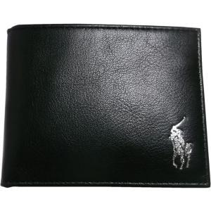ラルフローレン 本革製 レザー パスケース 財布 Polo Ralph Lauren 黒 ブラック 226 shufflestore