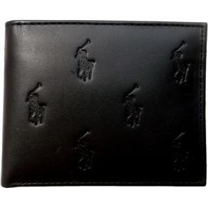 ラルフローレン 本革製 レザー パスケース 財布 Polo Ralph Lauren 黒 ブラック 252 shufflestore