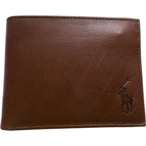 ラルフローレン 本革製 レザー パスケース 財布 Polo Ralph Lauren 茶 ブラウン 380 shufflestore