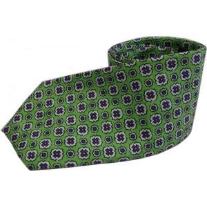 ラルフローレン シルク プリント ネクタイ イタリア製 グリーン Polo Ralph Lauren 406|shufflestore