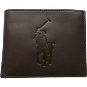ラルフローレン 本革製 レザー パスケース 財布 Polo Ralph Lauren 茶 ブラウン 451 shufflestore