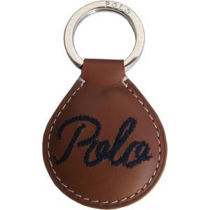 ラルフローレン 本革製 レザー キーホルダー 茶 ブラウン Polo Ralph Lauren  015 shufflestore
