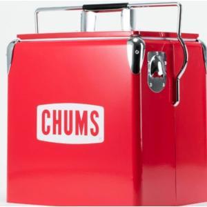 真っ赤なボディにCHUMSロゴが映える、50年代風のレトロなデザイン。スチールならではの無骨な風合い...