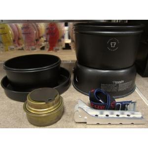 ストームクッカー・ウルトラライトモデルの表面に黒色塗装を施したシリーズです。Lモデルには、1.0Lと...