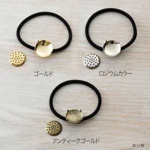 ヘアゴム シャワー付黒 1個入 | 日本製 国産 ヘア アクセサリー金具 ヘアゴム|shugale1