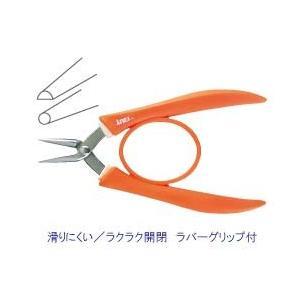 ビーズ 工具類 便利用具 ステンレスヤットコ 片丸 ラバーグリップ |shugale1