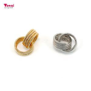 CraftCafe メタルツイストコイルリング2連 約10mm ゴールド・シルバー 1ヶ | メタルパーツ リングパーツ コイルリング 2連  ツールフリー|shugale1